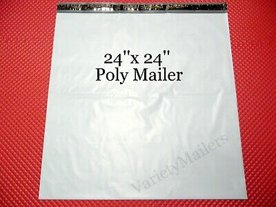 7 Extra Large Poly Bag Mailers 24x24 Plastic Self-sealing Shipping Envelope Bags