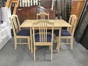 DELIVERY TODAY STRONG WOOD EXTENDABLE 5pcs dining table SALE NOW Belmont Belmont Area Preview