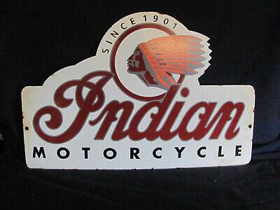 Vintage Indian Motorcycles Since 1901 Porcelain Sign