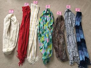 ALL LIKE NEW SCARVES-EVERYTHING MUST GO!