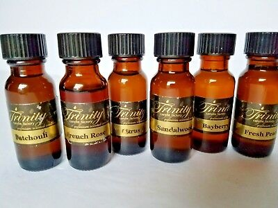 Trinity Candle Factory Fragrance Oil Lot 6 1/2 oz Bottles  Candles Soaps Warmers, used for sale  Shipping to Canada