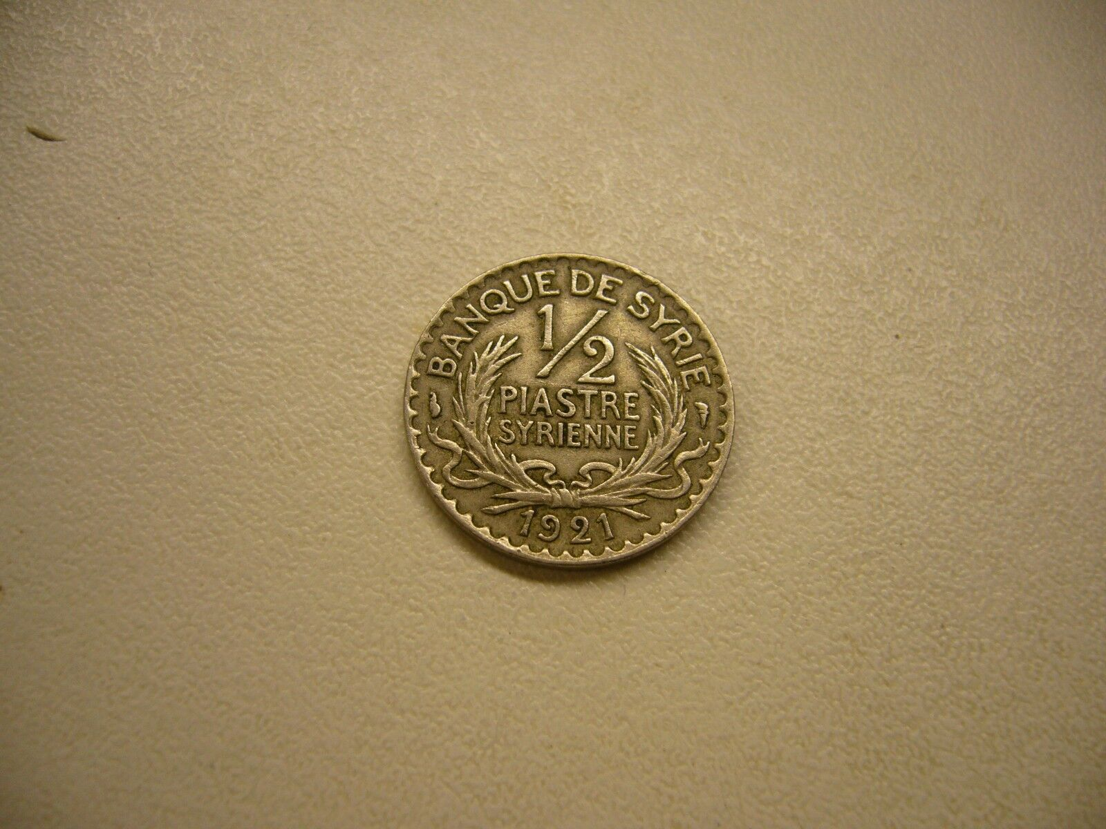 1921 Syrie 1/2 Piastre Coin