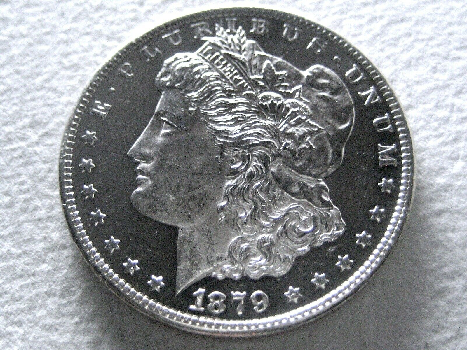 1879-S Morgan Silver Dollar Coin, Ultra DMPL Obv - Proof-Like - Orig 14-H  - $245.00