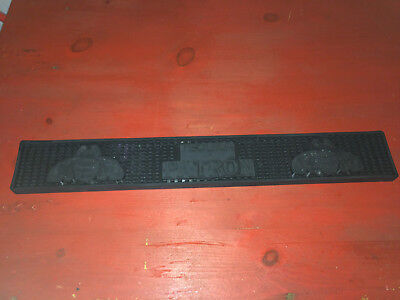 Patron Tequila Logo Long Rail Rubber Bar Mat - Nice Used Condition