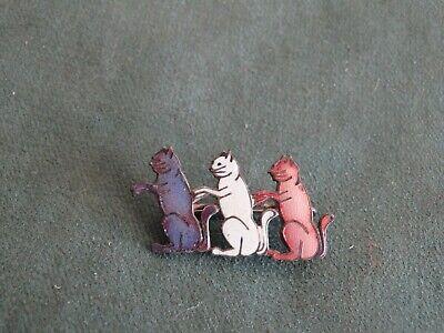 ancienne broche en forme de chats