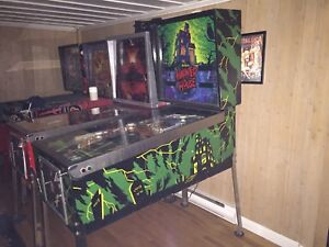Pinball machine a boule Gottlieb Haunted House SS 1982 widebody
