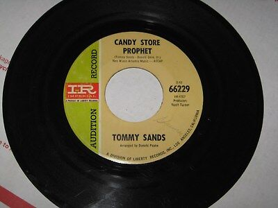 Rare TOMMY SANDS Candy Store Prophet / Second Star to The Left 45 Promo (Sands Stores)