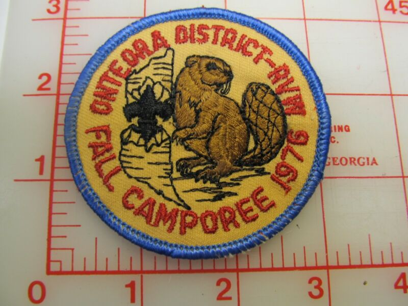 Onteora District 1976 Fall Camporee collectible beaver patch (b7)