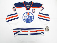 CONNOR McDAVID EDMONTON OILERS AUTHENTIC AWAY REEBOK EDGE 2.0 7287 JERSEY WITH C