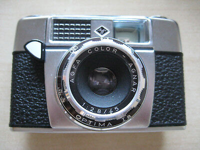 """Agfa Optima I a mit Color-Agnar 1:2,8/45"" Kleinbildkamera aus 1970er Jahren"