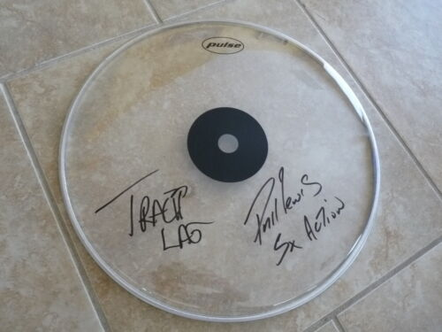 "Phile Lewis & Tracii L.A. Guns Autographed Signed 16"" DRUMHEAD PSA Guaranteed"