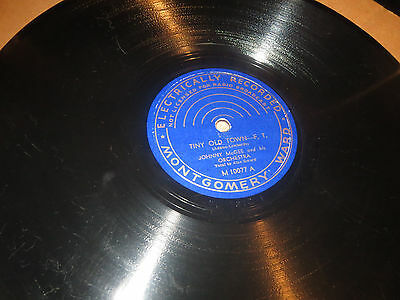 78RPM Montgomery Ward 10077 Johnny McGee, Playmates / Tiny Old Town clean V V+