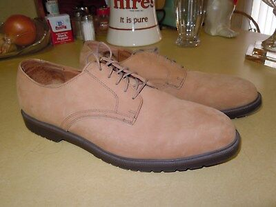 """ ST JOHNS BAY "" LIGHT TAN SUEDE LEATHER LACE UP CASUAL OXFORD SHOES - CLEAN 13M"