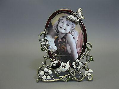 Luxus Bilderrahmen  aus Hartzinn  mit Strass 17cm x 13cm