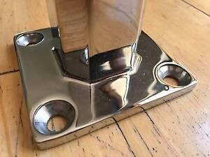 DIY Glass Fencing Deck Mount Spigot, Mini Post, Glass Clamp Glendalough Stirling Area Preview