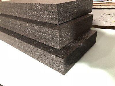 3 Sheets - 26 X 15 X 3 Polyethylene Plank Foam Density 1.7pcf Black
