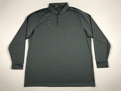 NEW Nike Ohio State Buckeyes - Men's Gray Long Sleeve Polo Shirt (3XL) State Long Sleeve Polo