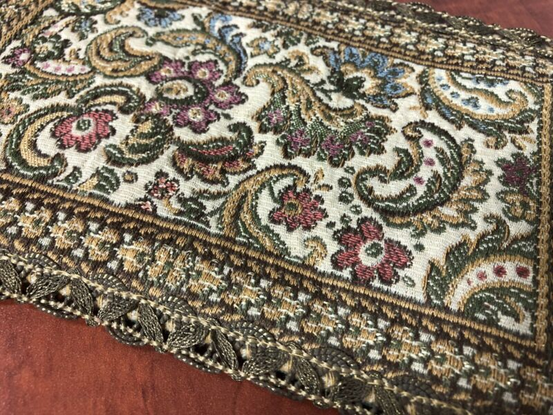 """9"""" Antique Dollhouse Miniature Rug Woven Accent Rugs Floral Pattern"""