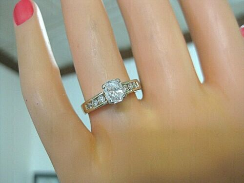 BANKRUPTCY 80% OFF 1 CARAT WHITE RADIANT CUT DIAMOND  ENGAGEMENT RING