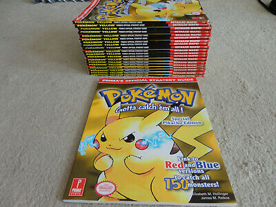 BRAND NEW Prima's Official strategy Guide for Pokemon Yellow Pikachu
