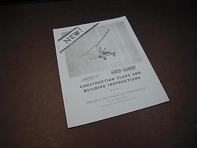 Vintage Bensen Gyro-Glider  Building Instructions/Materials List  -26 pgs-1959