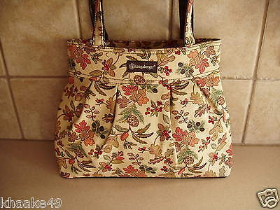 LONGABERGER AUTUMN PATH PLEATED HANDBAG / TOTE PURSE * NEW * FREE SHIPPING