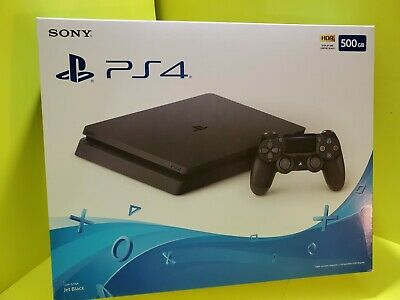 NEW Sony PlayStation PS4 500GB Slim Gaming Console Jet Black - CUH-2215A