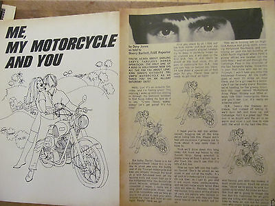 Davy Jones, The Monkees, Two Page Vintage Clipping