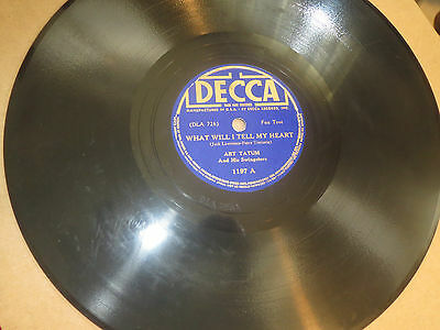 78RPM Decca 1197 Art Tatum, What Will I Tell My Heart / Body and Soul clean V