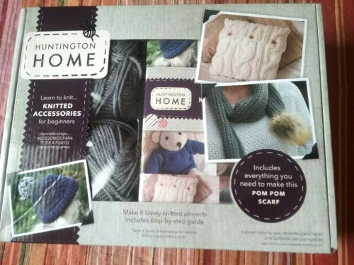 Huntington Home Knitted Accessories Kit Learn To Knit