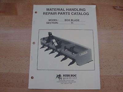 Bush Hog Box Blade Parts Manual Catalog Nov. 99 Bb 480 600 720 840