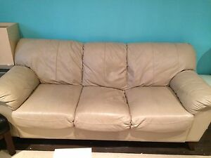 Leather couch $100.00
