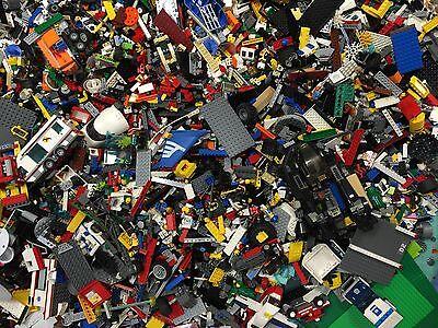 8 lbs Pounds Clean Lego Parts Pieces from BIG  BULK LOT- Bonus  MINIFIGURES 100%