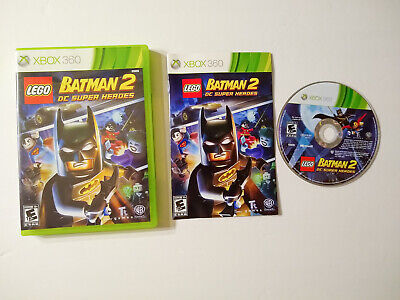 LEGO Batman 2: DC Super Heroes (Microsoft Xbox 360, 2012) Complete CIB with book