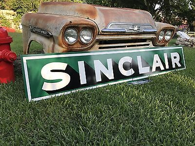 Antique Vintage Old Style Sinclair Motor Oil Gas Sign. FREE SHIPPING
