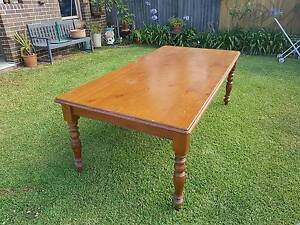 Large Country Style Oregon Timber Dining Table Haberfield Ashfield Area Preview