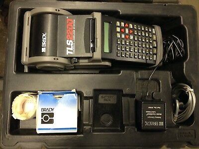 Brady Tls2200 Thermal Labeling System W Case Charger Cables Labels