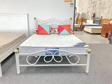 TODAY DELIVERY MODERN Double bed & COMFORT mattress CLEARANCE