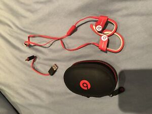 Red Powerbeats by Dr. Dre for sale!