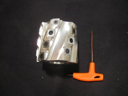 Spiral Shaper cutter head, indexable carbide inserts, with wrench - USA SHIP!