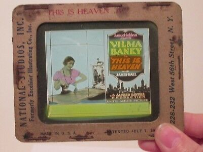 This Is Heaven  - Original 1929  Movie Glass Slide - Vilma Banky