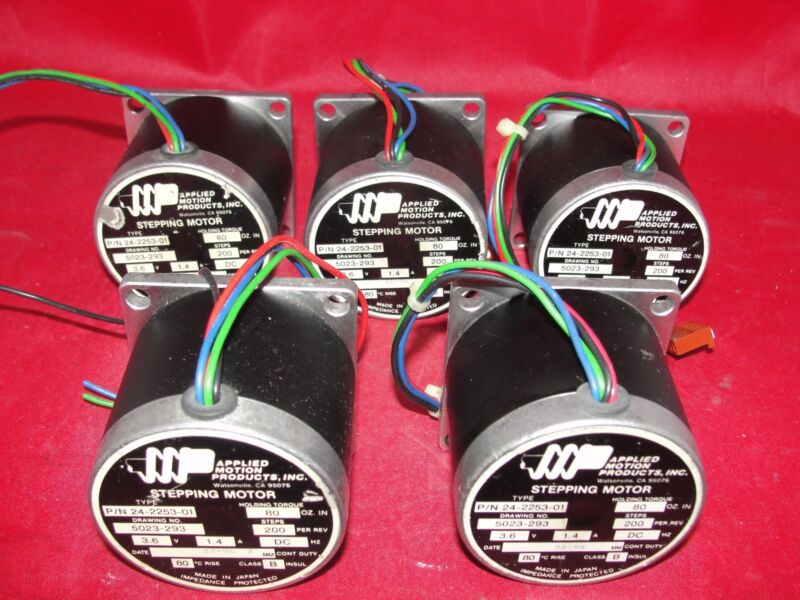 Applied Motion Products 24-2253-01 Stepping Motor 3.6V 1.4A Lot of 5