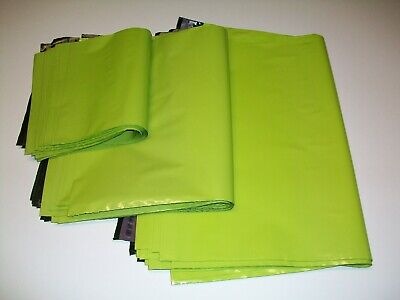50 NEON GREEN mix sizes Mailing Poly Postal Bags Postage Mailers Envelopes