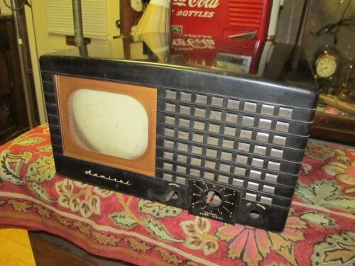 Vintage Admiral Bakelite Tabletop Tube TV Set 19A12 SN,