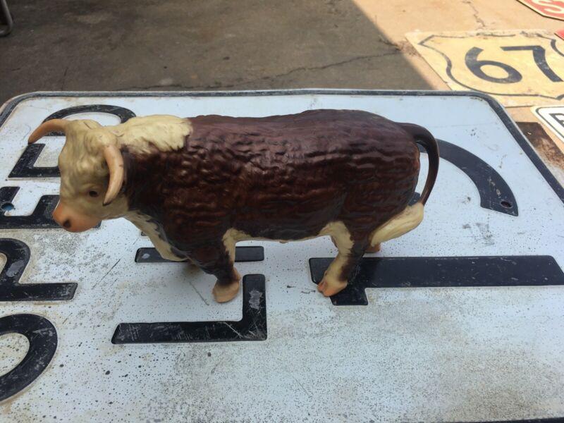 Hereford  Walking Bull  Hard Glossy Figurine Hard Plastic