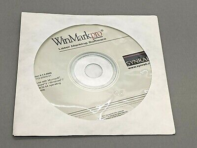 Synrad 112-20830-01 Winmarkpro Laser Marking Software Version 6.3.0.8858