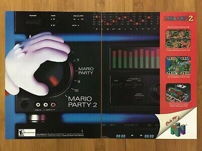 Mario Party 2 N64 Nintendo 64 2000 Vintage Print Ad/Poster Official Promo Art