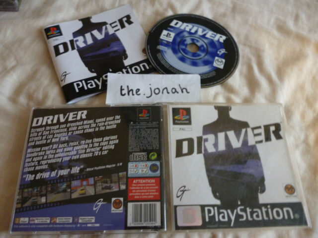 Driver PS1 (COMPLETE) original black label car racing driving Sony Playstation