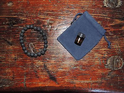 Aromatherapy Black Lava Bead Bracelet Comes with 1ml of Essential Oil UNISEX