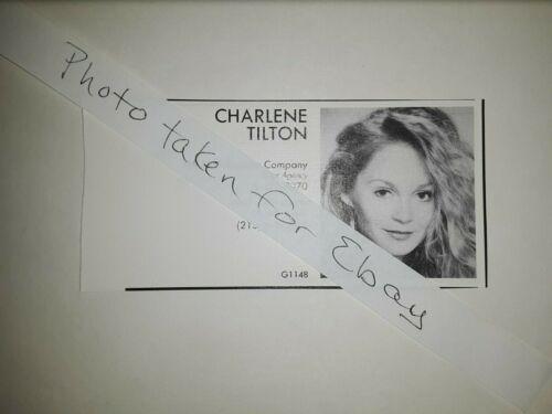 Charlene Tilton Dallas Original 1980s actors casting ad